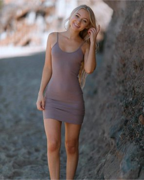 amateur photo Beautiful blonde in tight dress