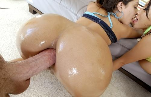 Stepbrothers fuck sister threesome