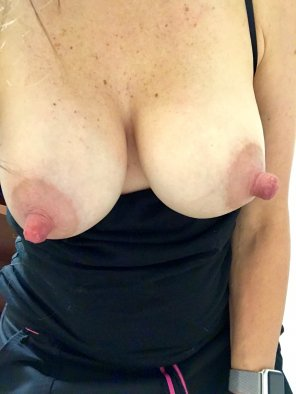 amateur photo Original ContentHubs thinks my tits are football Sunday good luck charms. He wants me to host a football party topless. It makes me hot to think about