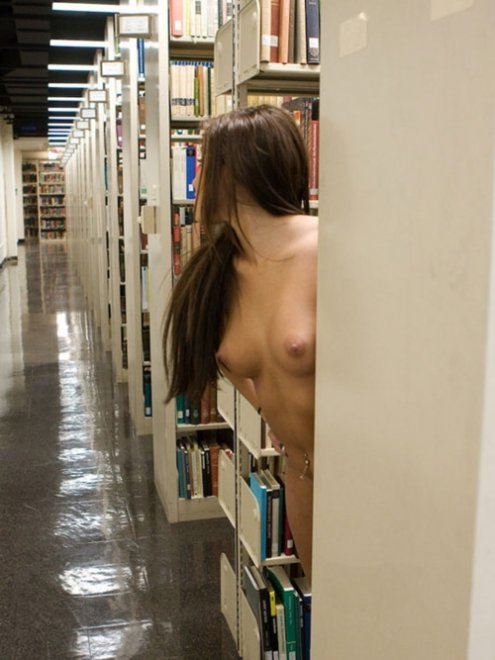 Library Fun Porn Photo