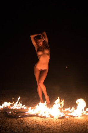 amateur photo Dancing in the fire
