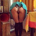 amateur photo Stripy undies