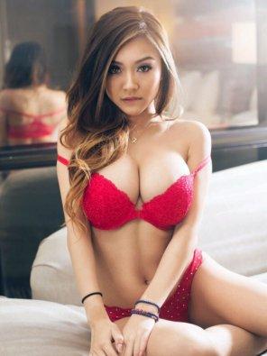 amateur photo Red underwear