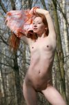 amateur photo Petite nude ginger outdoors