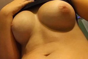 """amateur photo 18f You seem to love my titties, here's a closeup of my """"ghost"""" nipples. Or at least that's what I've been told they are. =P"""