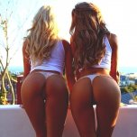 amateur photo Blonde + brunette