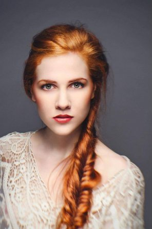 amateur photo Redhead portrait