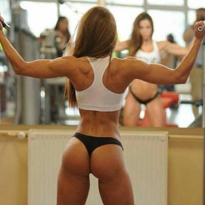 amateur photo She works out