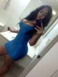 amateur photo Tight blue dress selfie
