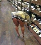 amateur photo No underwear upskirt at work
