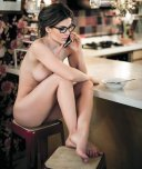 amateur photo Naked breakfast