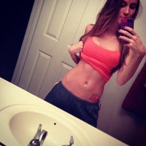 amateur photo Love her sexy abs