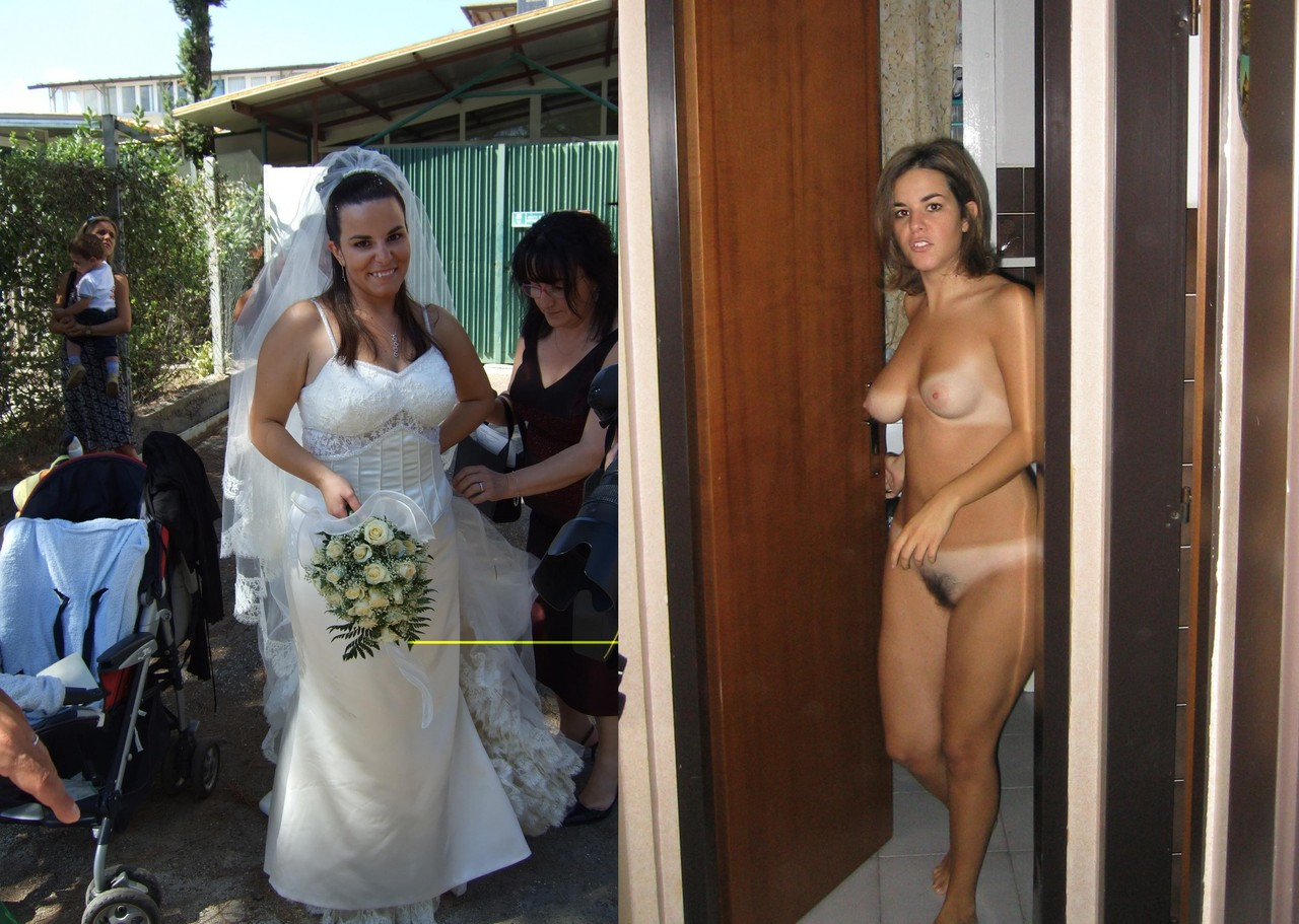 After before nude brides