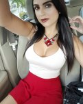 amateur photo white top, red skirt