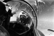 Col John Glenn in a TF-9J Cougar combat trainer, 1964.