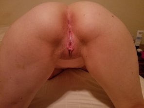 amateur photo She gets dripping wet.......