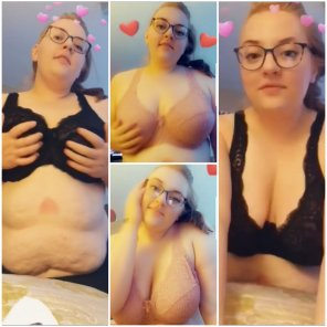 amateur photo New bras! 💖 Do you pre[f]er pink or black? [23F] 🐱 [BBW]
