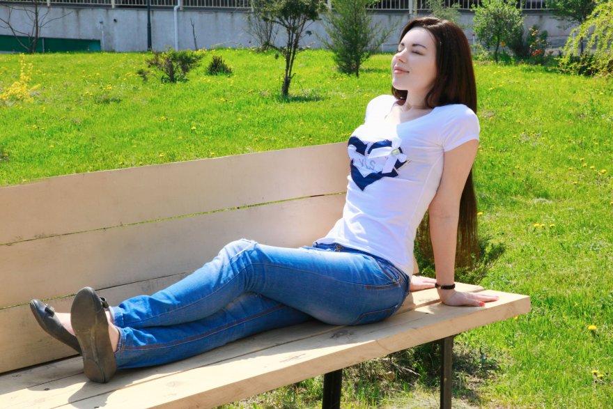 amateur photo Outside enjoying the sun
