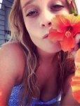 amateur photo Flower girl.