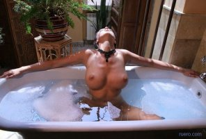 amateur photo Hot tub...
