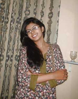 amateur photo Indian teen with glasses