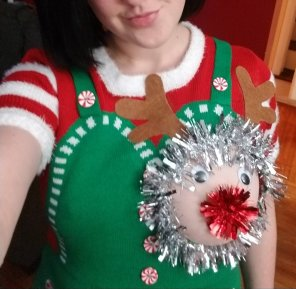 amateur photo My [f]estive holiday sweater was a big hit. You like it?