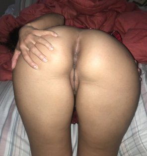 amateur photo Slutty girlfriend waiting for cock [oc]