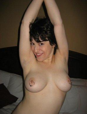 amateur photo Clip-on nipple hoops