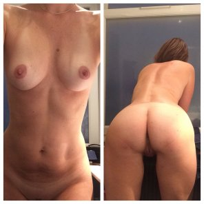 amateur photo Getting ready for the night, front and back 😁