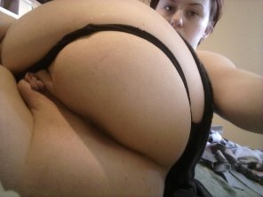 amateur photo Thong pushed over