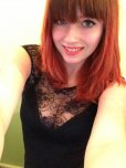 amateur photo Who else likes redheads and lacy cleavage?
