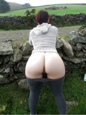 amateur photo Big Ass Bent Over Outdoors