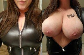 amateur photo New Year, same big ole titties 😉💋