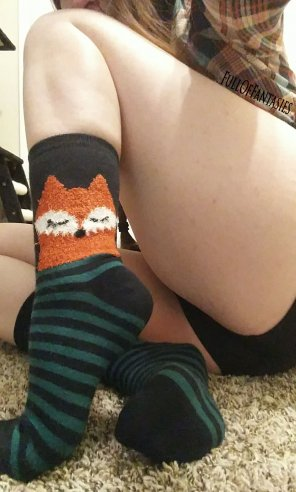 amateur photo Mixing it up a bit by showing off my cute fox socks :3
