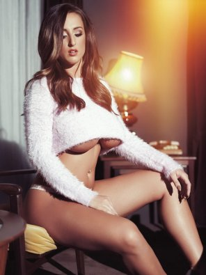 amateur photo Stacey Poole in white