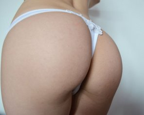 amateur photo Adorable white underwear