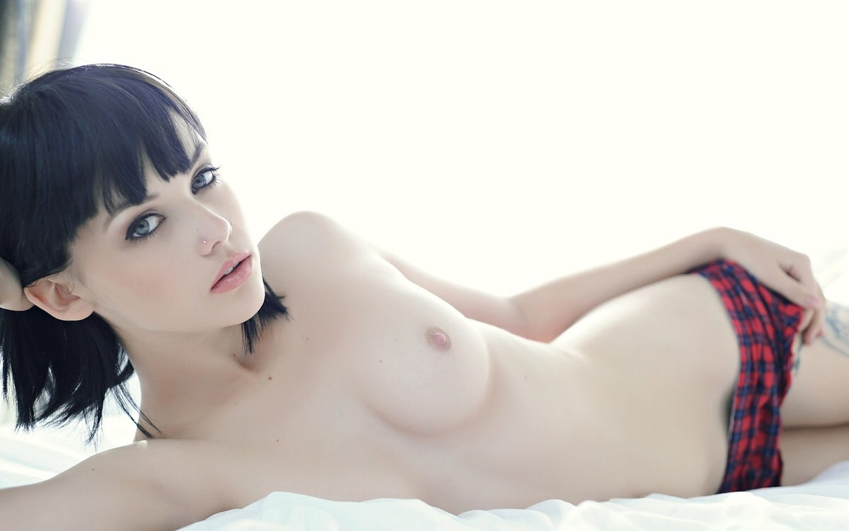 Fair skin girl nude pale