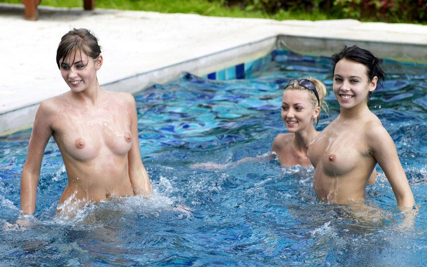 Naked pool party pics