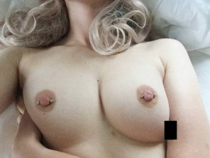 amateur photo I bet my tits would look nice covered in your cum [oc]