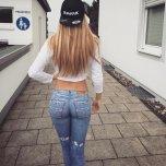 amateur photo An ass that complements jeans
