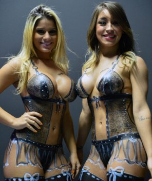 amateur photo Body paint beauty's