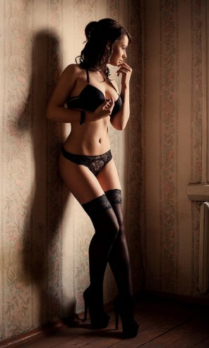 amateur photo Heels and stockings