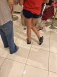 amateur photo Booty shorts at the mall