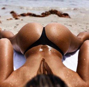 amateur photo Beach Butt