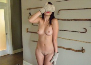 amateur photo Covering her face