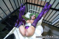 Hot Joker in purple boots