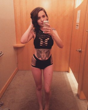 amateur photo Cutie trying on outfits