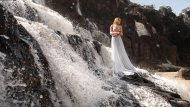 White Dress at a Waterfall
