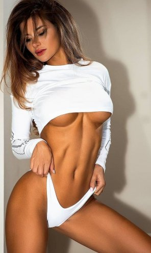 amateur photo Wearing white