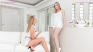 Sensual lesbian lovemaking by Alana Moon and Ivana Sugar